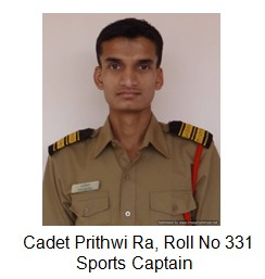 Sports captain Prithwi Ra