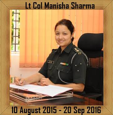 Lt Col Manisha Sharma